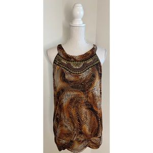Worthington Tribal Animal Print Blouse